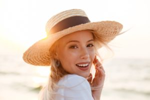 woman with beautiful summer skin